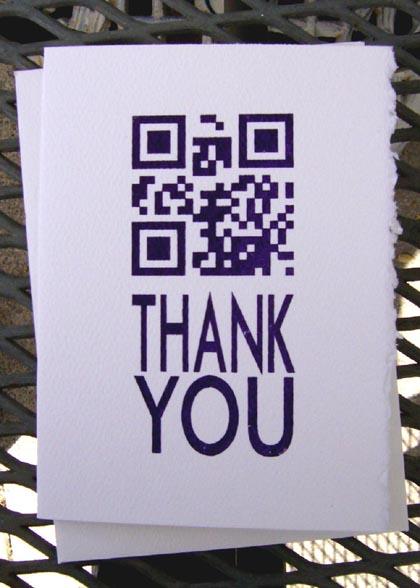 QR Thank You Card
